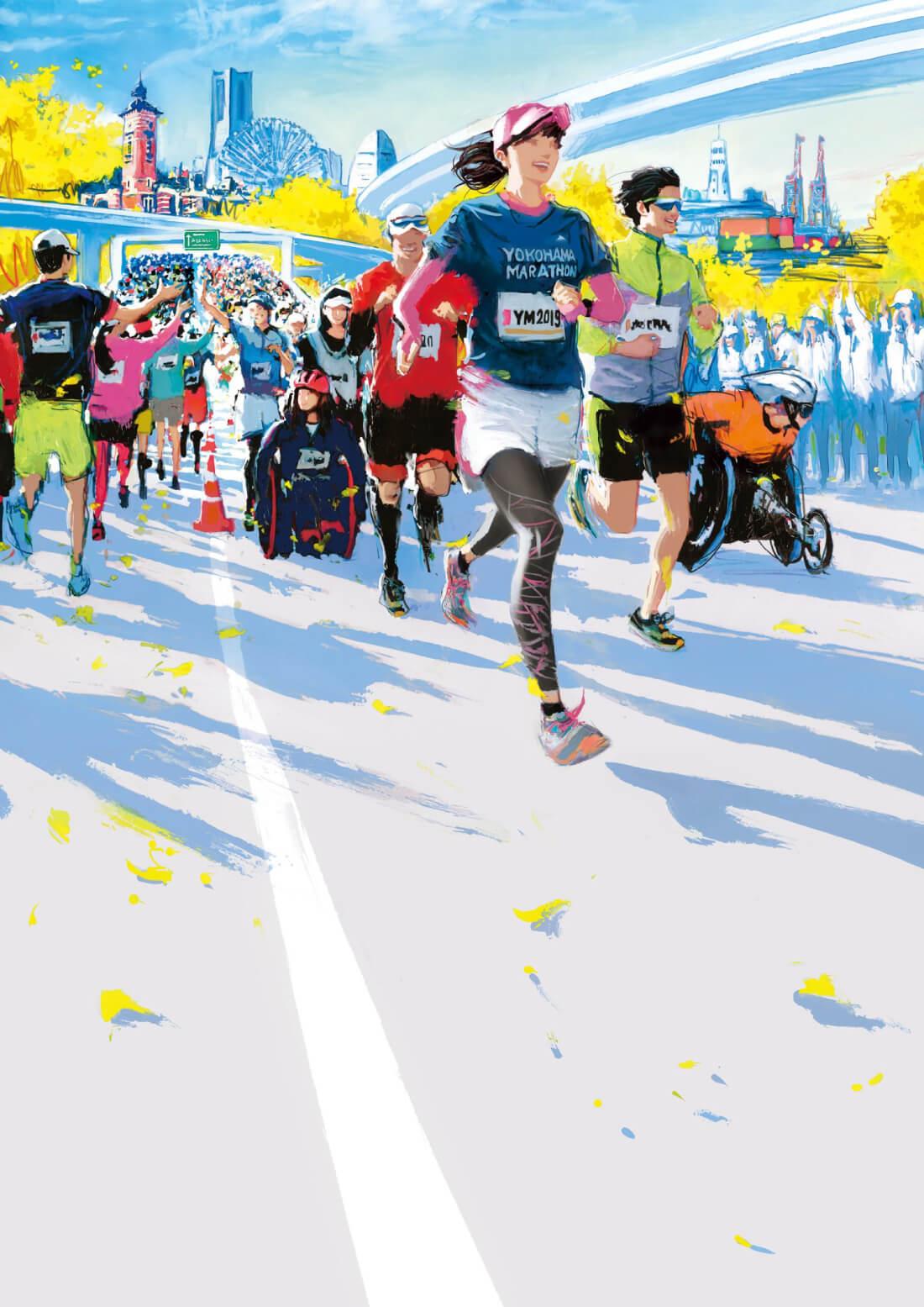 横浜マラソン2019 大会キービジュアル
